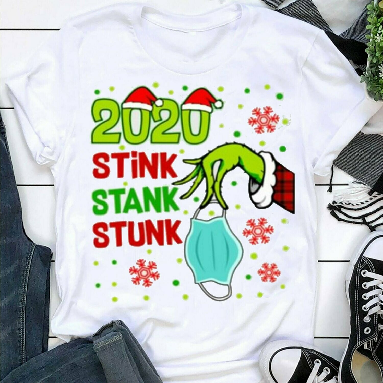 Cute 2020 Christmas shirt,Weed lover shirt,2020 Stink Stank Stunk shirt Trending Hoodies Sweatshirt Long Sleeve V Neck Tank Top T Shirt