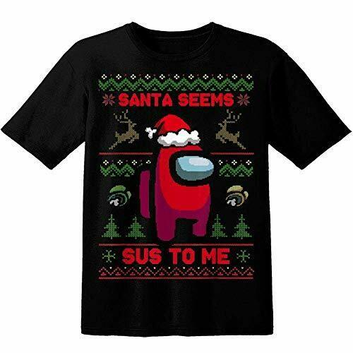 Santa Seems Sus To Me Shirt, Among Us Christmas Theme Shirt, Crewmate Or Impostor, You're Kinda Sus, Unisex Shirt For Women Men