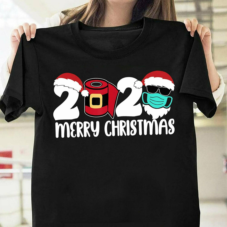 2020 Merry Christmas Toilet Paper Santa Quarantine Noel Women Tshirt,Funny Gift christmas,christmas quarantine 2020