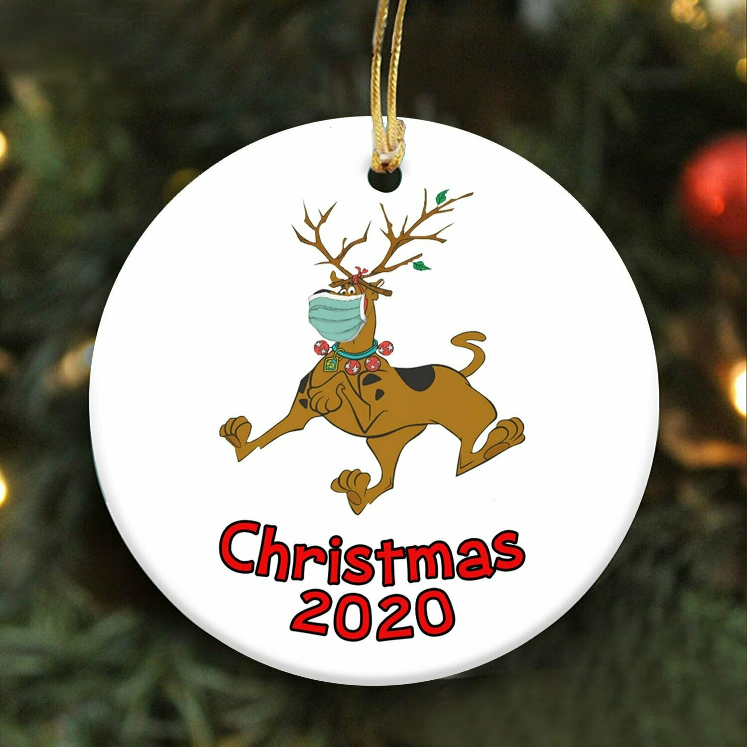 2020 Christmas Scooby Doo Christmas 2020 Ornament Social Distancing Quarantine Ornament Christmas Gifts