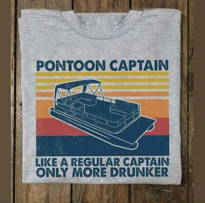 Pontoon Captain Like A Regular Captain Only More Drunker Unisex Trending Hoodies Sweatshirt Long Sleeve V Neck Tank Top T Shirt