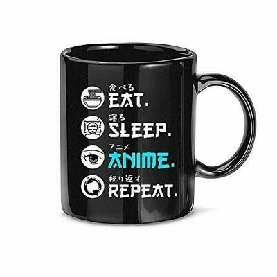Eat Sleep Anime Repeat Mug, Anime Coffee Mug, It' An Anime Thing, It's Not Cartoon It Anime Mug, Ceramic Accent Mug 11 oz 15 oz