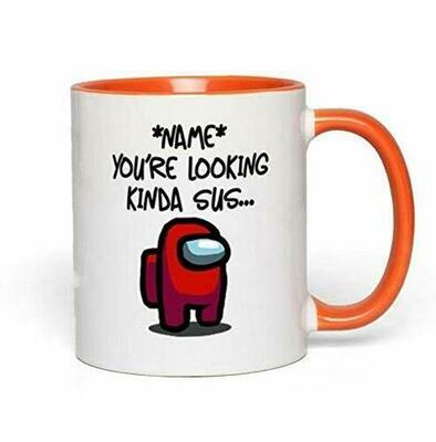 Personalised Among Us Mug, Among Us Gift Idea for him her, Impostor Mug Gift idea for Him You're looking kinda Sus Ceramic Accent Mug 11 oz 15 oz
