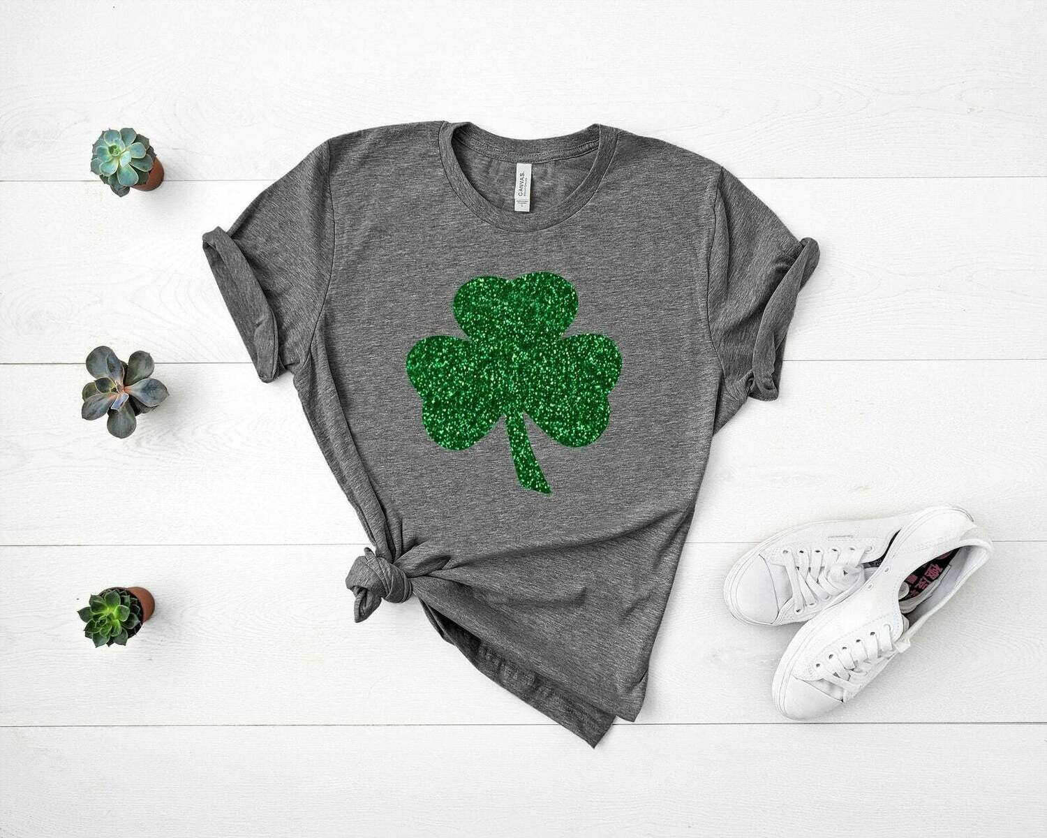 St. Patricks Day Shirt,Womens Irish Shirt,Glitter Shamrock Tee,St Patty's Day T-Shirt,St. Pattys Day Shirt,St. Patricks Day Adults,Irish