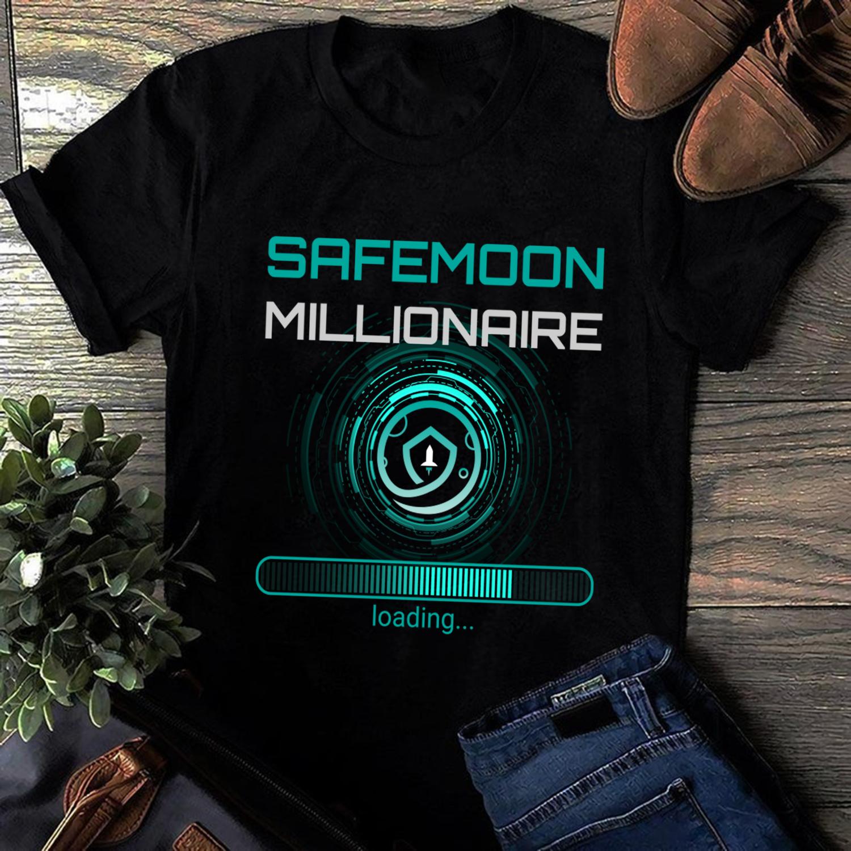 Funny Safemoon Millionaire Crypto T-Shirt,2021 Gift shirt,Cryptocurrency Blockchain Trending Unisex Hoodies Sweatshirt Kid T Shirt