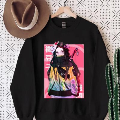 Cute Slayers Demon Art,Japanese Anime and Manga Tshirt, Funny Cartoon Kimetsu No Yaiba Trending Unisex Hoodies Sweatshirt V Neck T Shirt