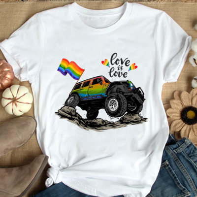 Love Is Love Jeep Shirt, LGBT shirt, Lgbt Pride T Shirt, Love is love shirt, Gay Pride Gift, Lesbian Matching shirt, LGBT Equality Shirt, Bisexual Trending Unisex Hoodies Sweatshirt Long Sleeve shirt