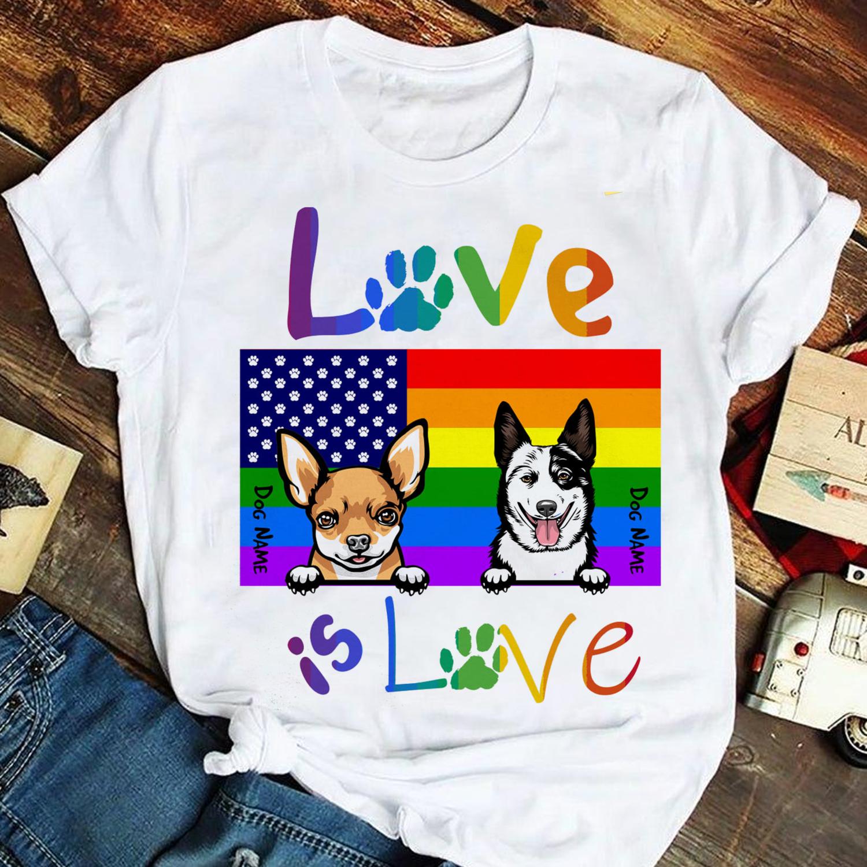 Love is love Shirt, Cat lover shirt, LGBT Pride shirt,Gay Pride shirt,Gift for gay couples,Transgender shirt, US Flag shirt, Family Gift Trending Unisex Hoodies Sweatshirt Long Sleeve V Neck T Shirt
