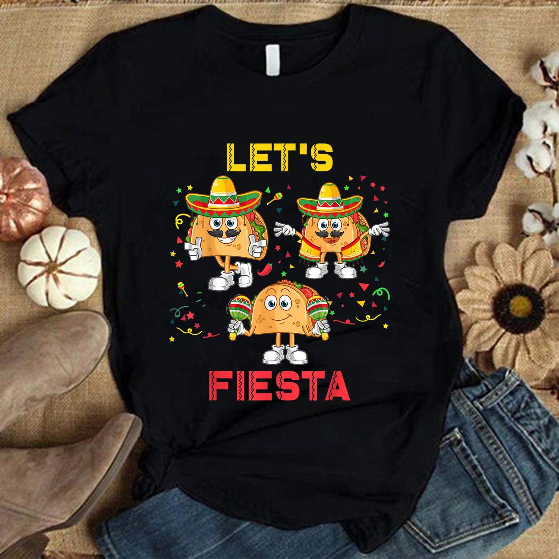 2021 Gift shirt,Happy Cinco de Mayo 5 de Mayo for Women Men Kids,  Cinco de Mayo Gift, Let's Fiesta Trending Unisex Hoodies Sweatshirt Long Sleeve V Neck Kid T Shirt