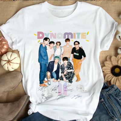 BTS Dynamite Signature shirt,Bts Bangtan Boys Group Members shirt,Gift for Army Tshirt,Bts Group Trending Unisex Hoodies Sweatshirt Long Sleeve V Neck Kid T Shirt