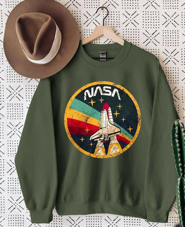 Trendy Nasa Space Retro Vintage Nasa Workers,Nasa Lover Unisex Trending Hoodies Sweatshirt Long Sleeve V Neck Tank Top Kid Tee T Shirt