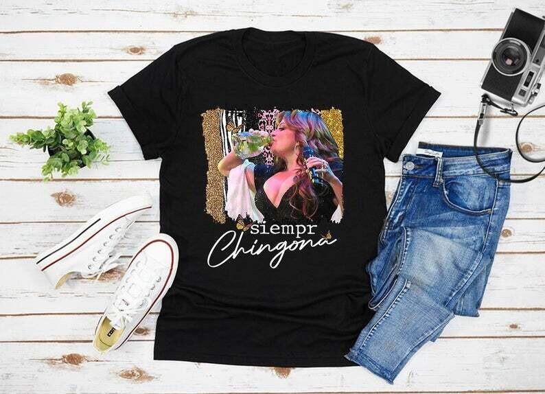 2021 Siempre Chingona Jenni Rivera T Shirt, Gift For Jenni Rivera Fan Trending Unisex Hoodies Long Sleeve Tank Top V Neck Kid Shirt
