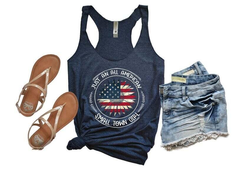 American Flag Sunflower Shirt, 4th of July Shirt , Independence Day Gift Trending Unisex Hoodies Sweatshirt Tank Top V neck T Shirt