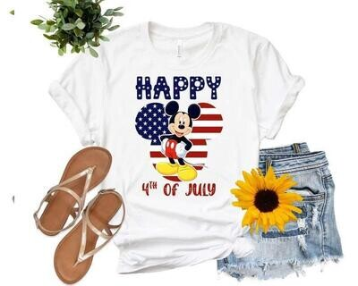 Mickey American flag shirt, 4th of July Shirt , Independence Day Gift Trending Unisex Hoodies Sweatshirt Tank Top V neck T Shirt