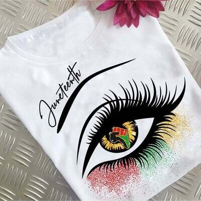 Juneteenth Eye African American, Peace Love Juneteenth Shirt, Juneteenth 1865, Juneteenth Heart Gift , Black Live Matter Gift Trending Unisex Hoodies Sweatshirt Tank Top V neck T Shirt