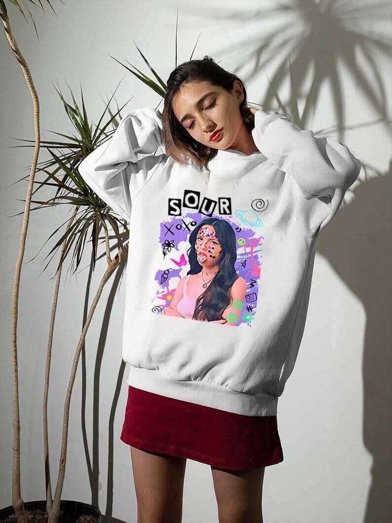 Olivia Rodrigo Sour Album Trending Unisex Hoodie Long Sleeve Sweatshirt Tank Top Vneck Kid T Shirt
