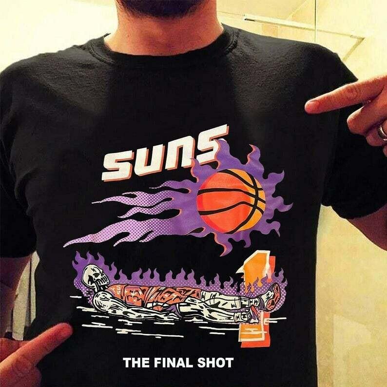 Suns The Final Shot Devin shirt, Warren Lotas Devin Booker Last Shot Trending Unisex Hoodie Long Sleeve Sweatshirt Tank Top Vneck Kid T Shirt