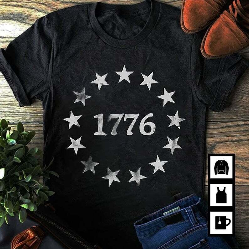1776 Patriotic Vintage Style Usa 4th Of July shirt, Independence Day Shirt, 4th Of July Gift Trending Unisex Hoodie Long Sleeve Sweatshirt Tank Top Vneck Kid T Shirt