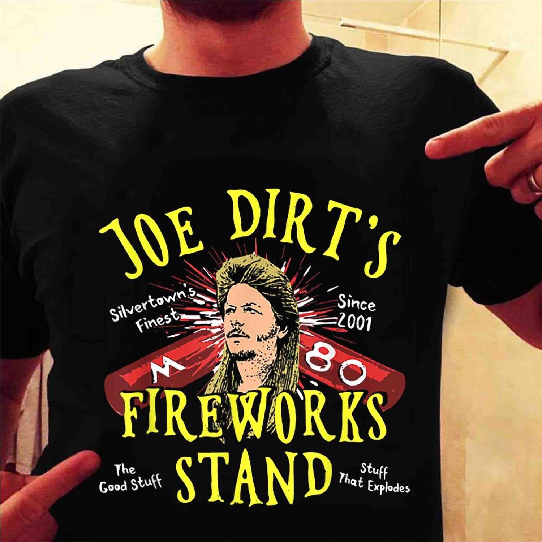 Joe_Dirt's Fireworks Stand T-Shirt, Independence Day Shirt, 4th Of July Gift Trending Unisex Hoodie Long Sleeve Sweatshirt Tank Top Vneck Kid T Shirt