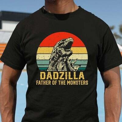 Dadzilla Shirt , Father's Day gift , Gift for dad, Shirt For Dad, Daddy shirt Trending Hoodies Sweatshirt Long Sleeve V Neck Tank Top Kid Tee T Shirt
