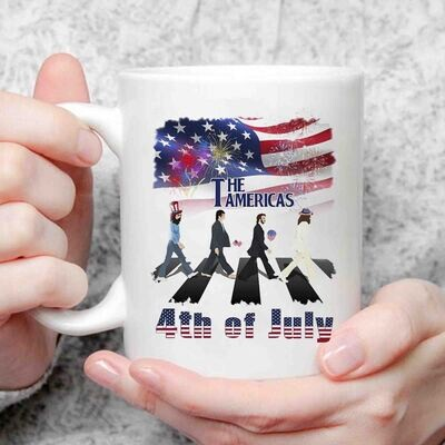 Funny The Americas 4th Of July Abbey Road Shirt, Funny Independence Day Gift Shirt, Us Flag Fireworks Shirt, All American Shirt