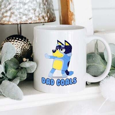 Dad Goals Bluey Mug, Bluey Dad Mug, Father Mug, Dad Mug, Gift For Dad, Father's Day Gift, Bluey Family Mug, Custom Bluey Mug