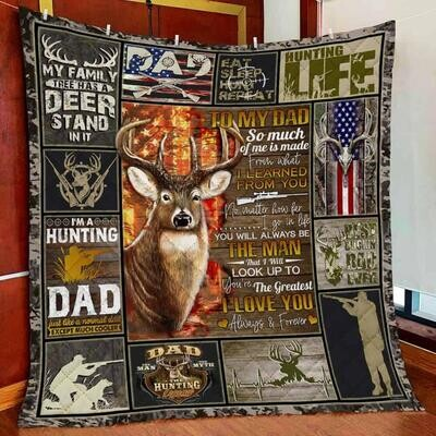 To My Dad The Hunting Legend Blanket