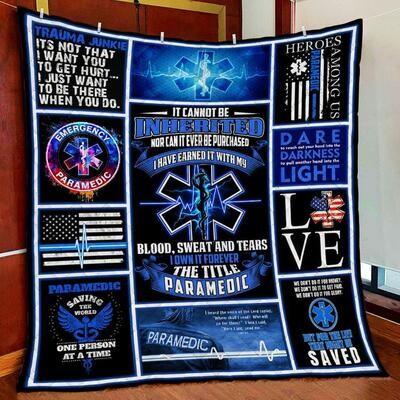 Proud The Title Paramedic All Season Blanket