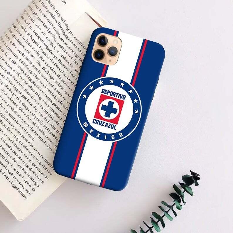 FC Cruz Azul Mexico Phone case, Mexican Football Team,Cruz Azul Campeon Case , Cruz Azul Flag Case Apple