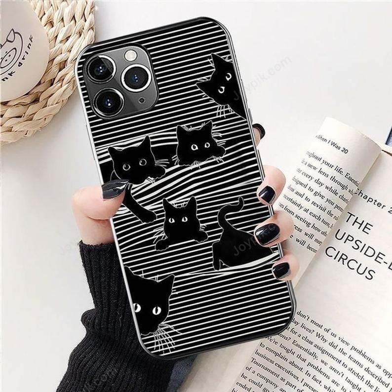 Cat Art Phone Case, Mobile Phone Case,Cute Pet Cat Phone Case,Fun Cat Art , Case For Iphone