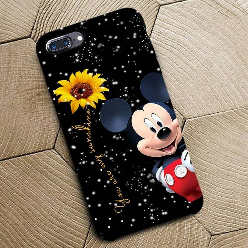 Mickey Mouse Phone Case, Disney Mickey Mouse Phone Case, Mickey Lovers Phone Case Gift