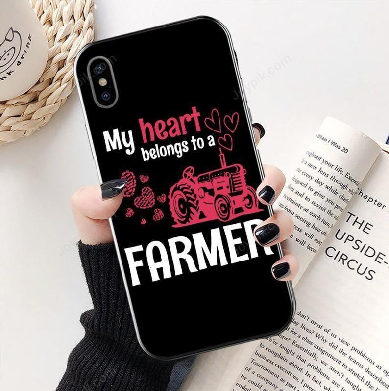 My Heart Belongs To A Farmer Phonecase, A Farmer Phonecase, Gift for him, Girlfriend Boyfriend gift, Farmer Gift, Farmer Phonecase