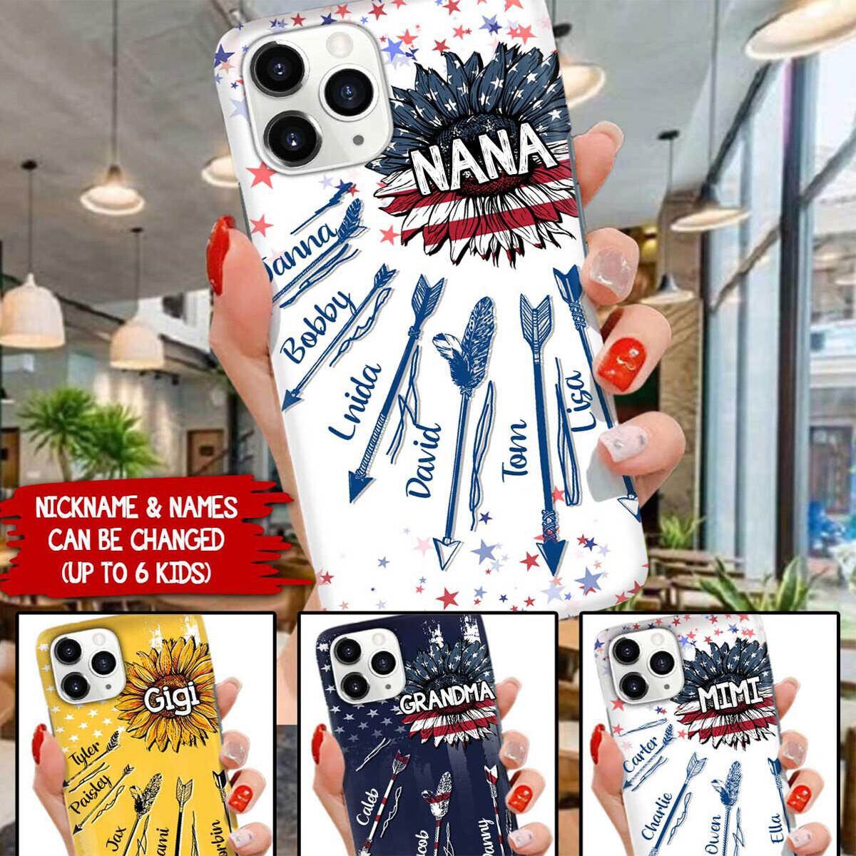 Personalized Nana Mimi Custom Name Phone Case