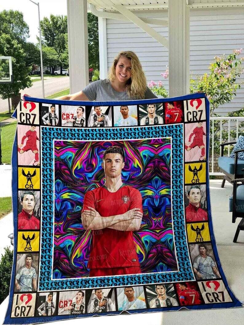 Cristiano Ronaldo Quilt Blanket