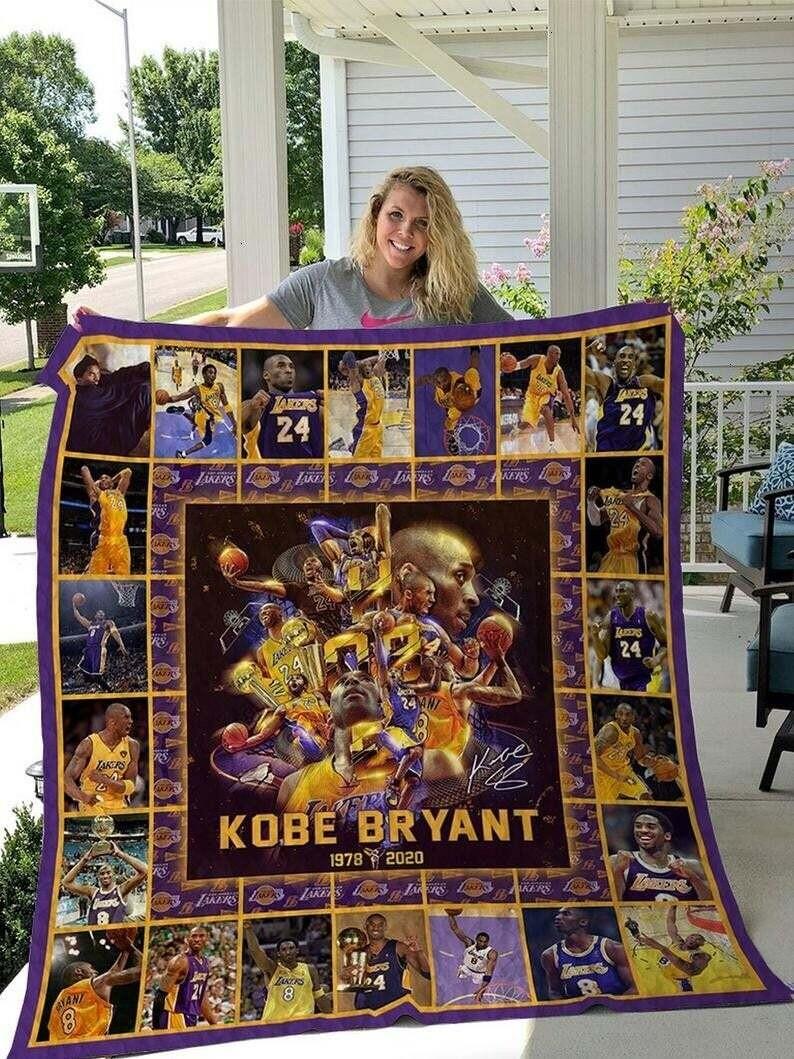 Kobe Bryant Black Mamba 24 Los Angeles Lakers Legends Never Die Blanket