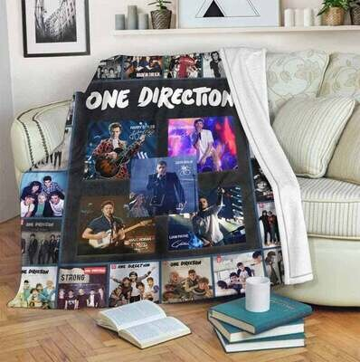 One Direction For Fan Back Blanket, Annivesary Gift, Special Gift, Gift For Fan