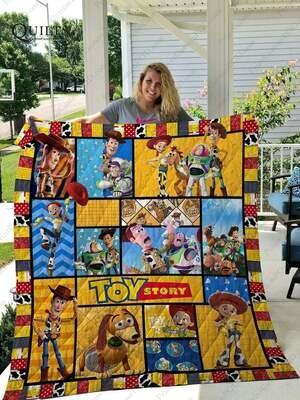 Toy Story Quilt Blanket - Fleece Blanket Super Soft Toy Story - Quilt Blanket Fan Gift - Fleece Blanket Cartoon