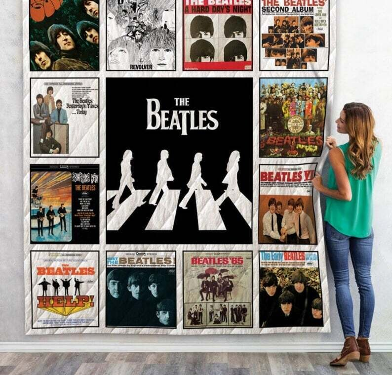The Beatles Quilt Blanket ,Gifts For Fans,Abby Road Blanket,Music Legend Blanket,Gift For Best Friend,Music Blanket,Music Lover