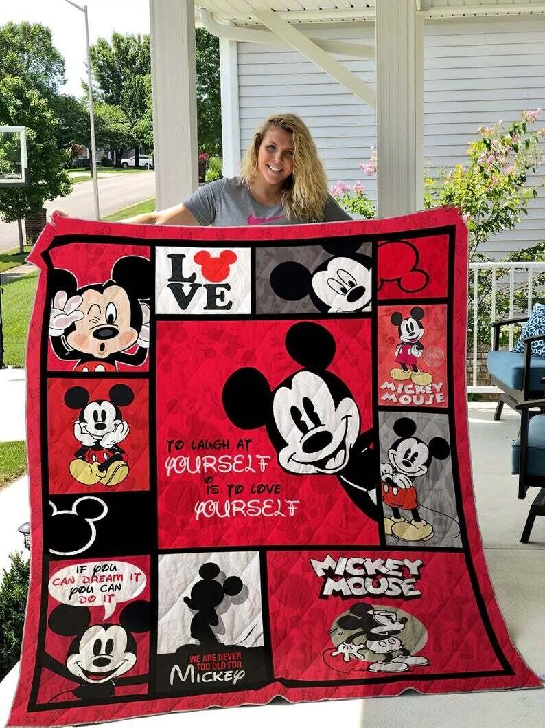 Mickey Mouse Quilt Blanket - Fleece Blanket Super Soft Mickey Mouse - Quilt Blanket Fan Gift