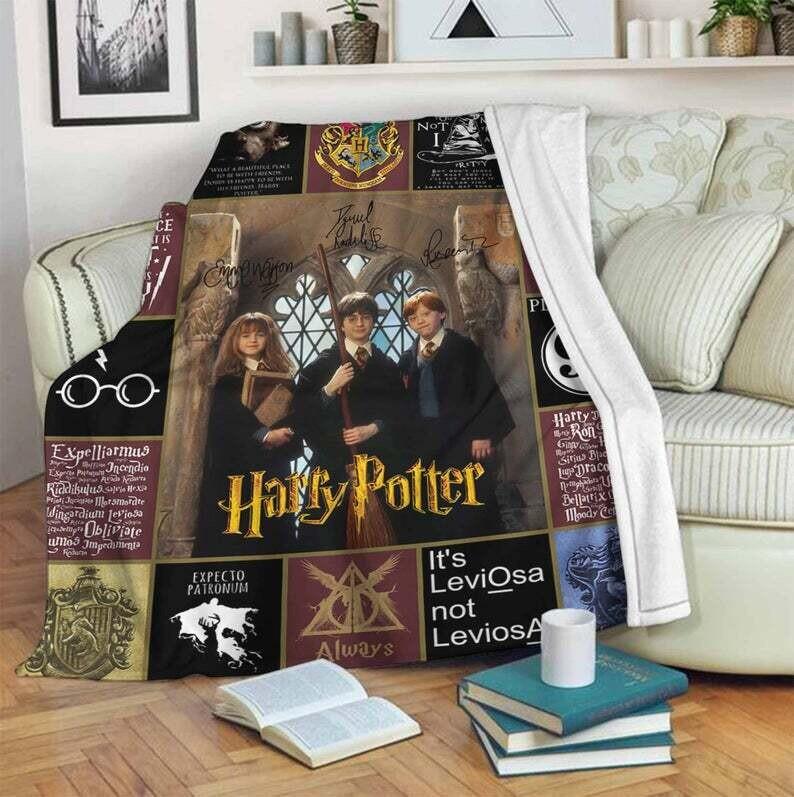 Harry Potter Blanket, Gift For Fan, Bedroom Decor, Special Gift, Gift For Kid