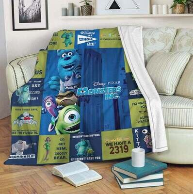 Monsters Inc Blanket, Annivesary Gift, Special Gift, Gift For Fan