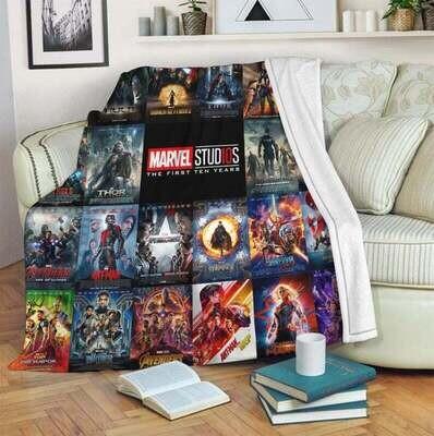 Marvel Studio For Fan Blanket, Annivesary Gift, Special Gift, Gift For Fan, Gift For Kid