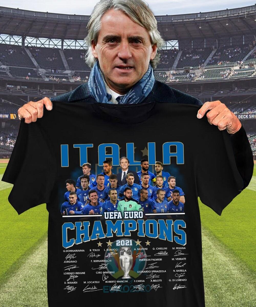 Italia Champions Euro 2020 Shirt, Italia National Team T-Shirt