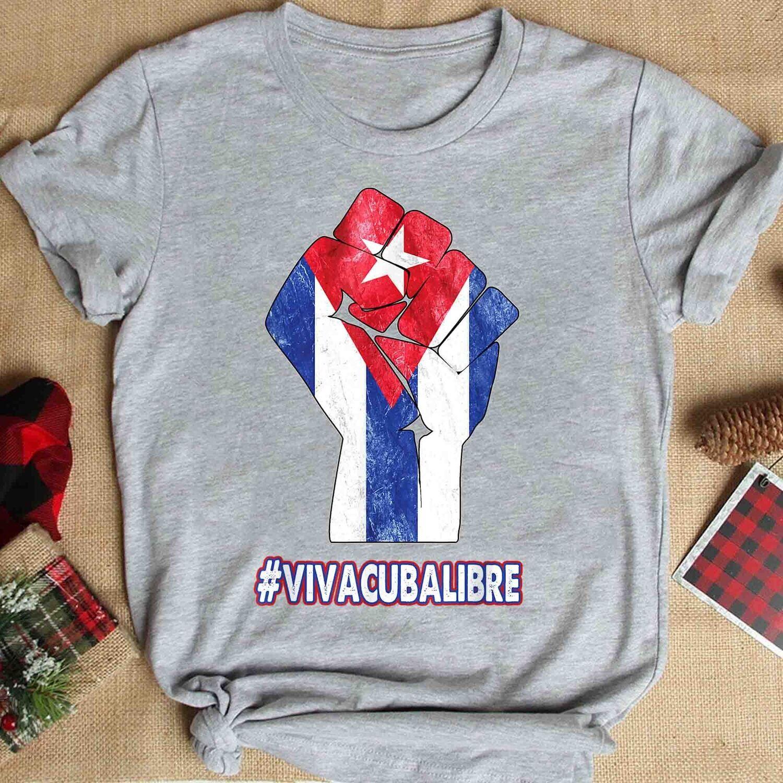 SOS Cuba. Cuba Tshirts, Free Cuba Shirts