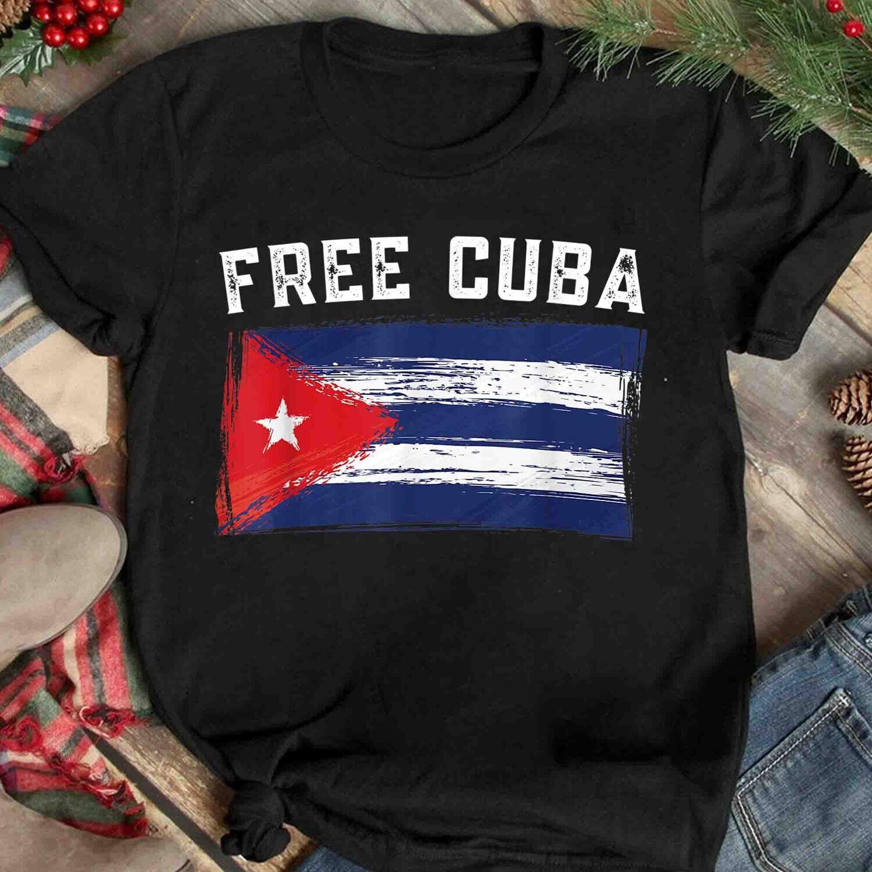 Patria y Vida Cuban Shirt, Camisa Cubana, SOS Cuba, Cuba Tshirts