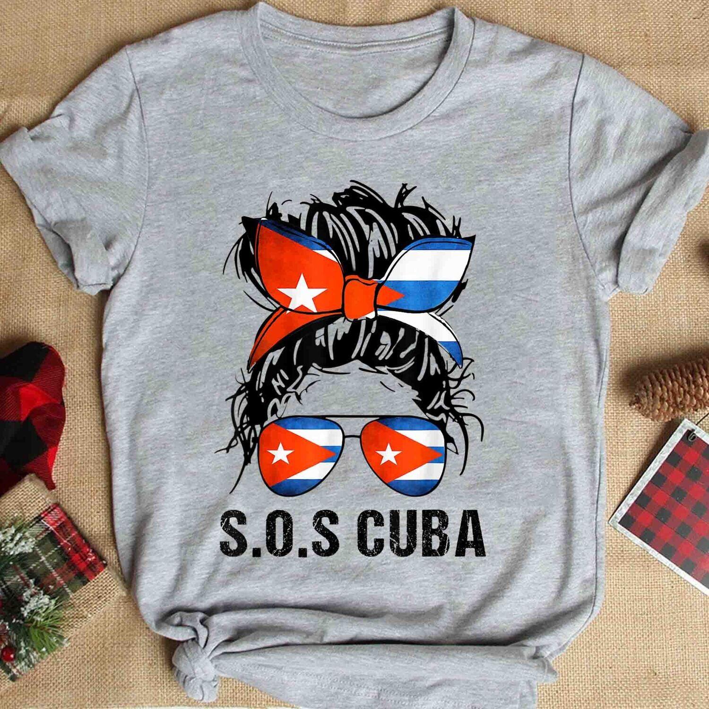 Cuban Girl, Cuban girlfriend, Cuba Messy bun, Cubana Shirt