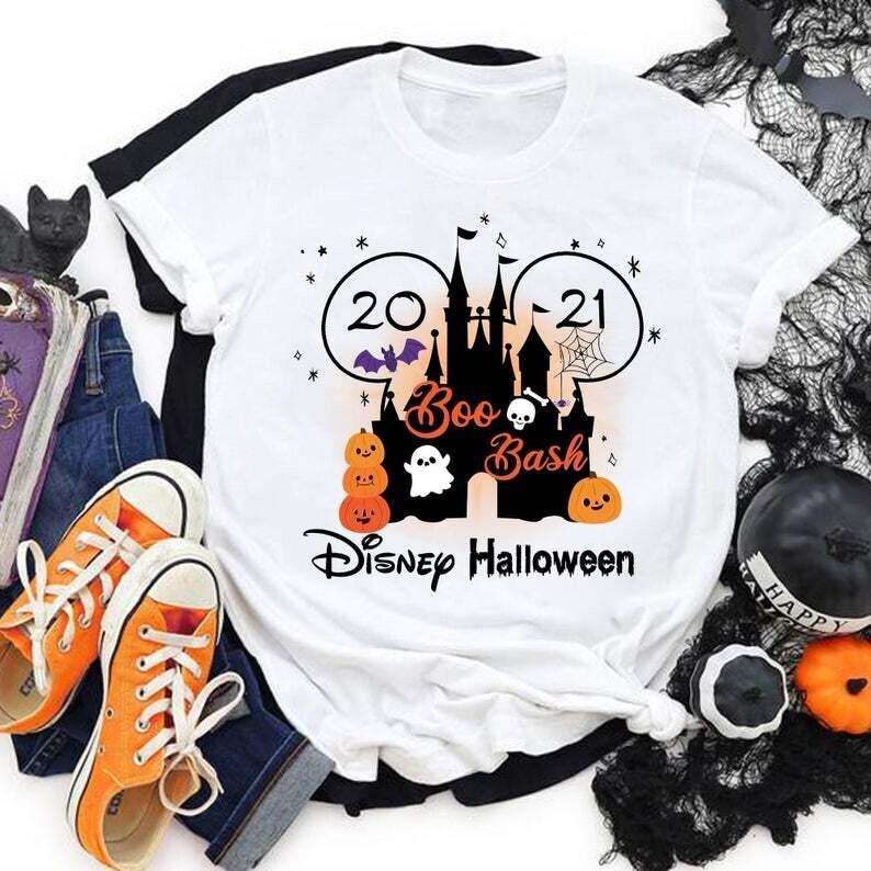 Boo Bash Halloween Disney shirts, Halloween Party shirt, Disney 2021 shirts, Halloween matching shirts, Unisex T-shirt