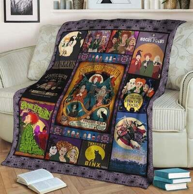 Hocus Pocus movie witcheswitch lover and halloween bedding decor idea Blanket, Annivesary Gift, Special Gift, Gift For Fan, Gift For Kid