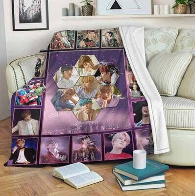 Music Band BTS For Fan Blanket, Special Gift, Aniversary Gift, Gift For Kid, Gift For Fan