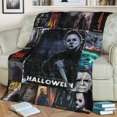 Halloween Michael Myers Blanket, Special Gift, Aniversary Gift, Gift For Kid, Gift For Fan